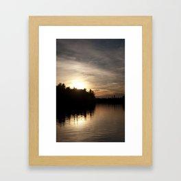 Northern Sunset 004 Framed Art Print