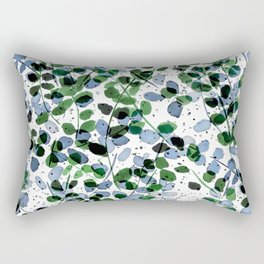 Synergy Blue and Green Rectangular Pillow
