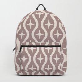 Mid century Modern Bulbous Star Pattern Beige Backpack