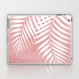 Pink Paint Stroke of Palm Leaves Laptop & iPad Skin