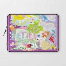 My happy world Doodle for children room Nursery home decor Laptop Sleeve