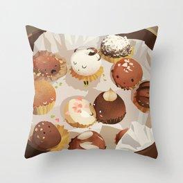 chocolate box life Throw Pillow
