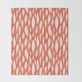 Quail Feathers (Poppy) Throw Blanket