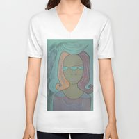 third eye V-neck T-shirts featuring THIRD EYE by Kathead Tarot/David Rivera