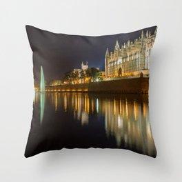 Palma Cathedral - Palma de Mallorca Spain Throw Pillow