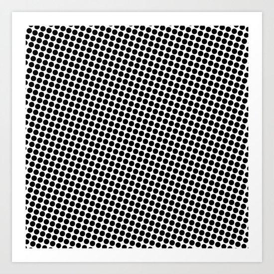 BLACK DOT Art Print