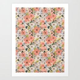 Eternity soft florals. Art Print