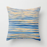 monet Throw Pillows featuring Monet Memories by Teresa Chipperfield Studios