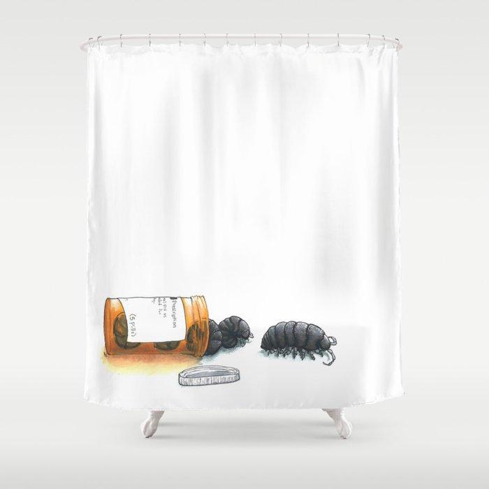 Pill bugs Shower Curtain