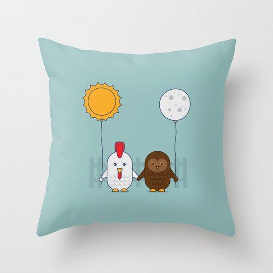 Early Bird & Night Owl Throw Pillow