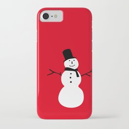 Christmas Snowman-Red iPhone Case