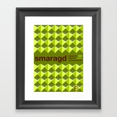 smaragd single hop Framed Art Print