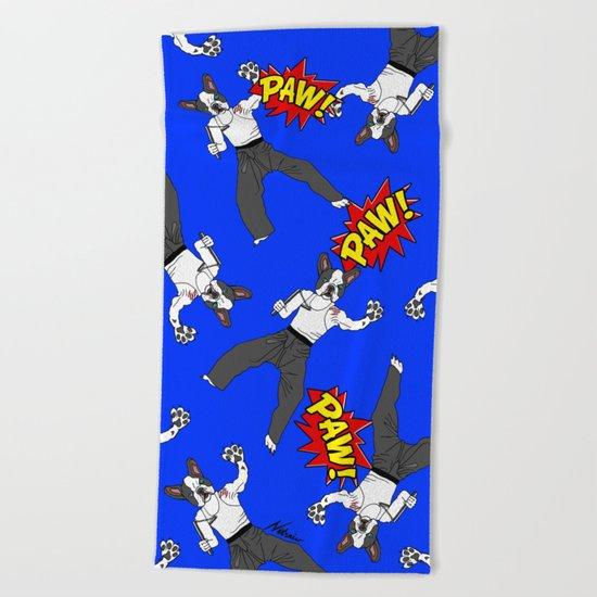 PAW POW - Kungfu Dog Beach Towel