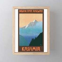 1930 Kashmir Indian State Railways Travel Poster Framed Mini Art Print