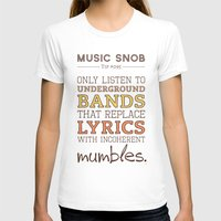 bands T-shirts featuring Mumbling Bands — Music Snob Tip #095 by Elizabeth Owens