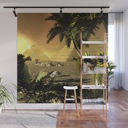 Pyramid in the sunet Wall Mural