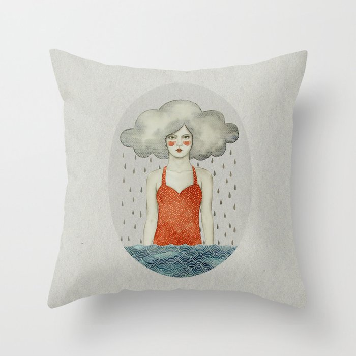 Aglaura Throw Pillow