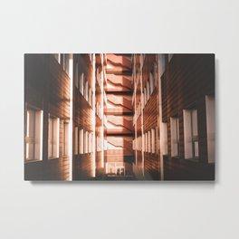 Sun reflecting on a building Metal Print