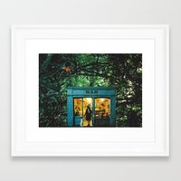 bar Framed Art Prints featuring Bar by flirst