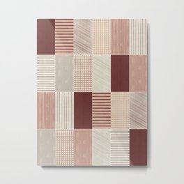 Rustic Tiles 03 #society6 #pattern Metal Print