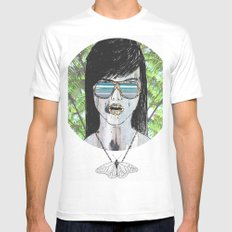 Tropical Zombie  MEDIUM White Mens Fitted Tee