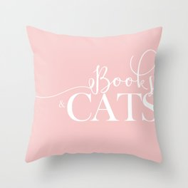 Books And Cats V2 Throw Pillow