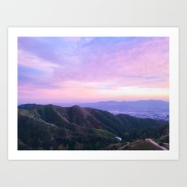 Serene Mountain Sunset Art Print