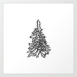 lone pine tree Art Print
