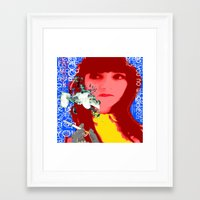 her art Framed Art Prints featuring HER by Lisamce