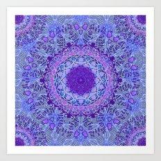 Wisteria Mandala Art Print