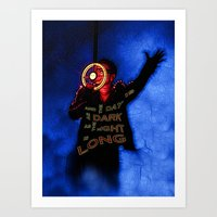 u2 Art Prints featuring U2 / Bono / Baby Light My Way by JR van Kampen