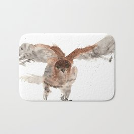 Hawk on the Hunt Bath Mat
