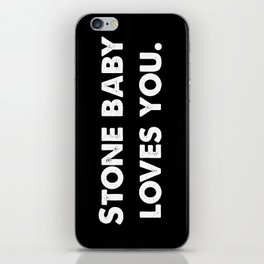 Stone Baby Loves You iPhone Skin