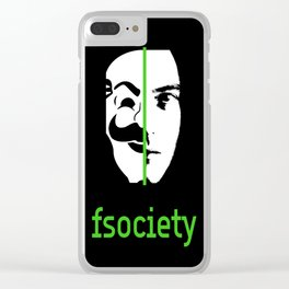 We Are The society (GREEN) Clear iPhone Case
