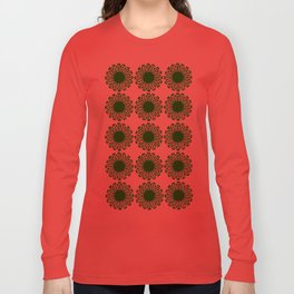 vintage flowers green Long Sleeve T-shirt