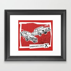 Left Car, Right Car Framed Art Print