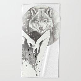WolfMoon Beach Towel