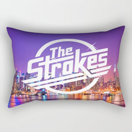 The Strokes Logo New York Night Rectangular Pillow