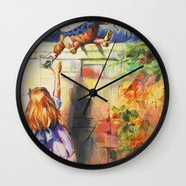 Alice Meeting Humpty Dealer Wall Clock