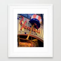 yankees Framed Art Prints featuring New York Yankees Clubhouse by Joann Vitali