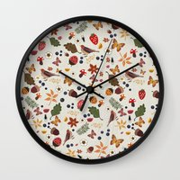 botanical Wall Clocks featuring Botanical by Kakel