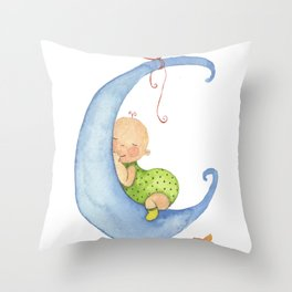 Baby moon Throw Pillow
