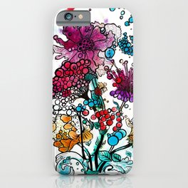 Floral watercolor abstraction iPhone Case