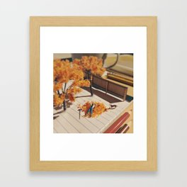 Relaxing in fall Framed Art Print