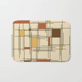 1940s Abstract Art Lines Bath Mat