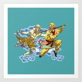 Eastern Mythological Primates Art Print