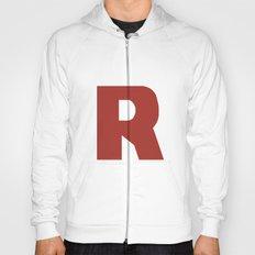 Letter R on White Hoody