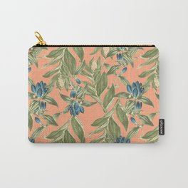 Blue Flowered Gentian Carry-All Pouch