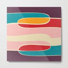 Wondering Waves #homedecor #midcenturydecor Metal Print