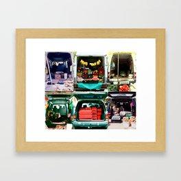 Bazar & market & fruits Framed Art Print